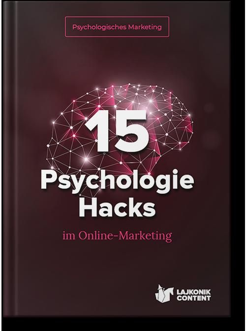 E-Book Ratgeber: 15 Psychologie Hacks im Online-Marketing