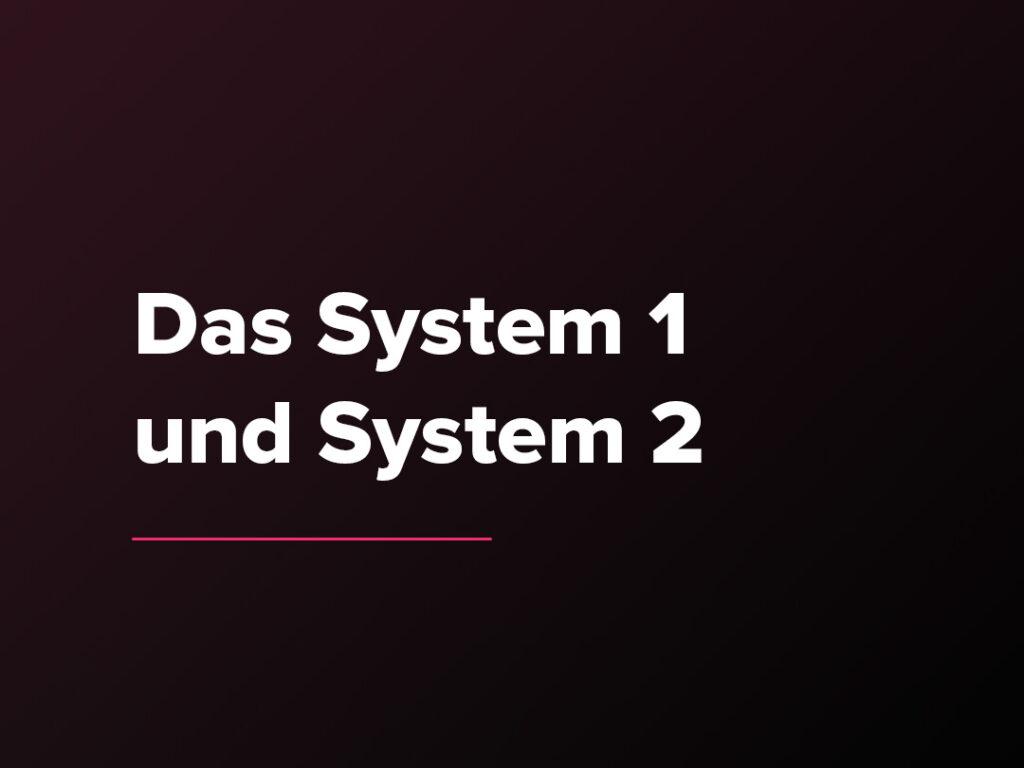 Kostenloser Verkaufspsychologie-Kurs: Das System 1 und System 2