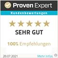 Lajkonik Content: ProvenExpert mit sehr guter Kundenbewertung