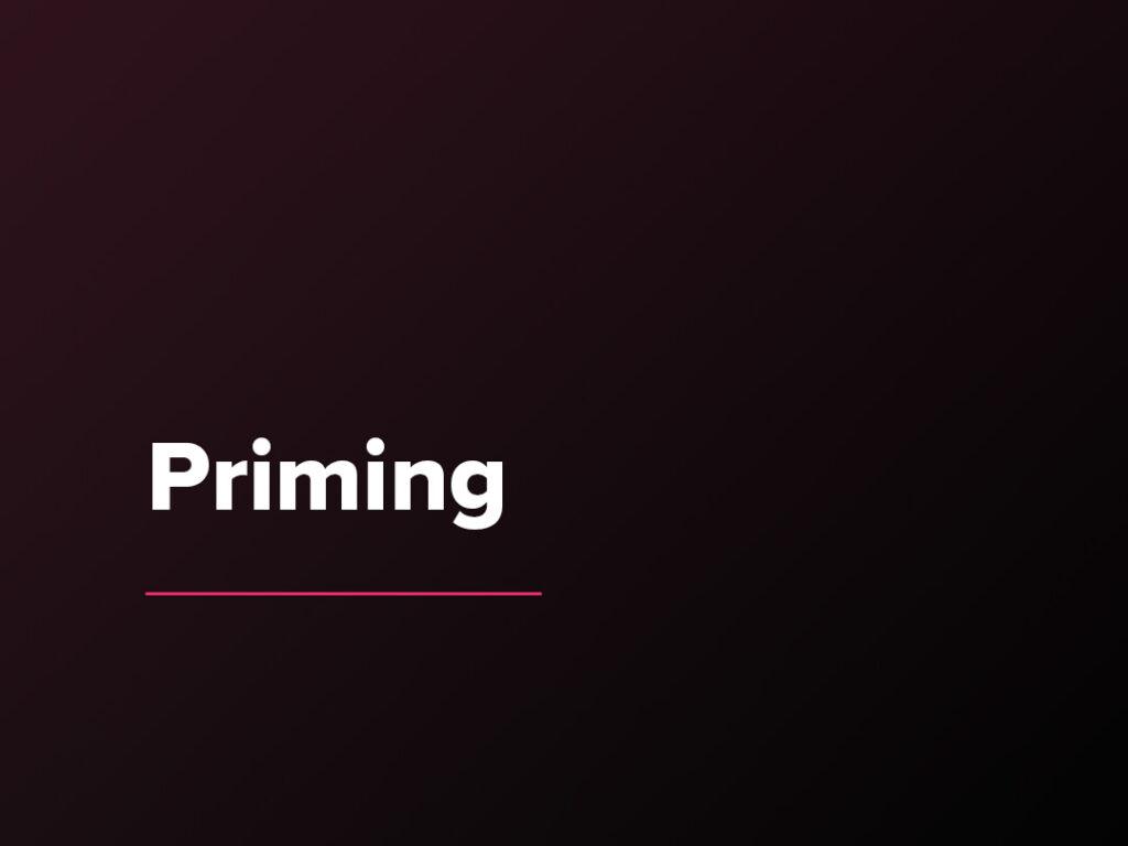 Kostenloser Verkaufspsychologie-Kurs: Priming