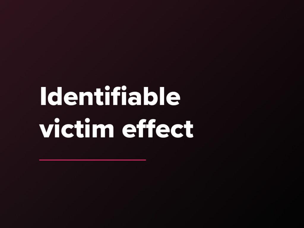Kostenloser Verkaufspsychologie-Kurs: Der Identifiable victim effect