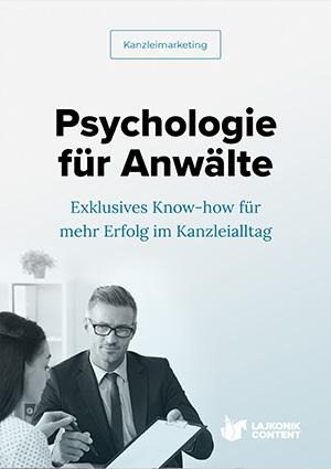 E-Book Cover Psychologie für Rechtsanwälte